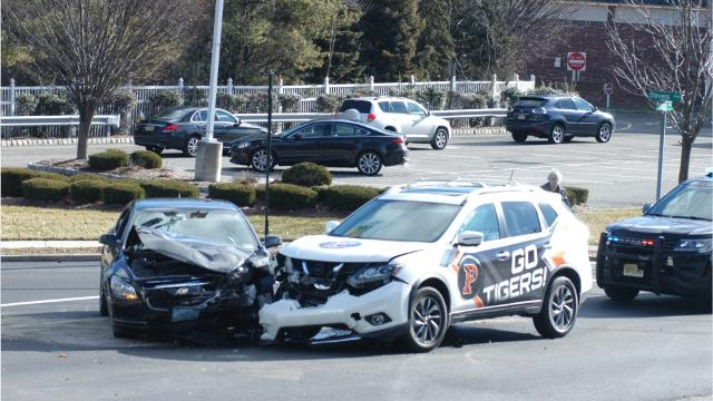 A two-car accident caused a fuel spill and closure of Stevens Avenue at the Pompton Avenue intersection in Cedar Grove Thursday morning, Jan. 19.