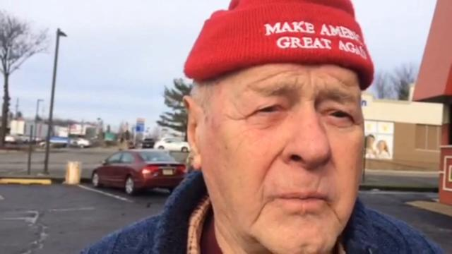 Milton Krivak, a Donald Trump supporter from Lodi, talks about side a diner in Wayne Wednesday about recent unverified allegations that Russia has compiled embarrassing information on the President-elect.