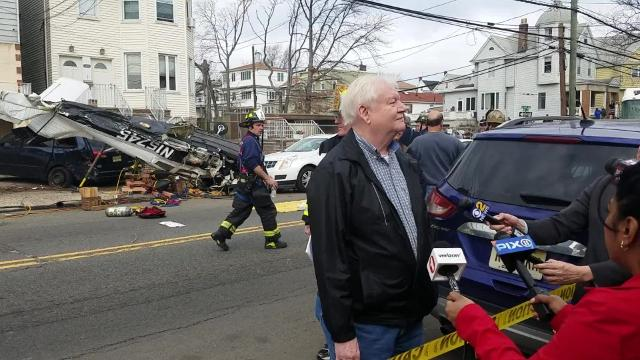 A small plane crashed on Avenue E in Bayonne on Sunday