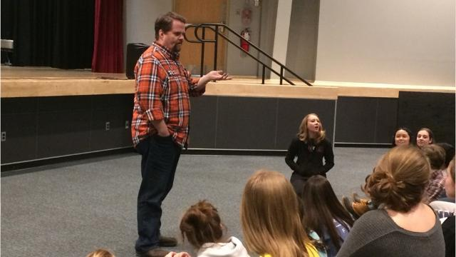 """A Broadway star visited Cedar Grove High School students as they prepare for their production of """"Sister Act."""""""