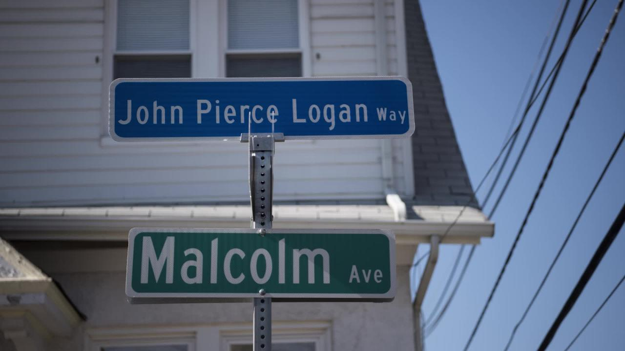 Late civic leader John P. Logan honored with street dedication at the intersection of Malcolm Ave. and Arnot St. in Garfield on Saturday, Feb. 18, 2017.