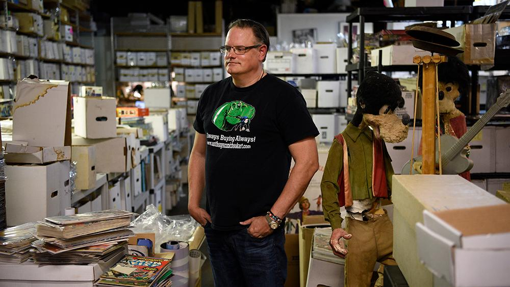 Anthony Snyder, owner of Anthony's Comic Book Art in Moonachie, has become one of the largest comic book art dealers in the country.