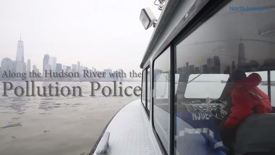 A routine boat inspection on the Hudson River with the DEP, the The New Jersey Pollution Police
