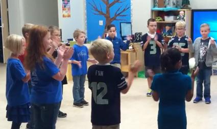 Silverdale Elementary School students learn to dance in Ms. Riggs' music class, on Sept. 9, 2016.