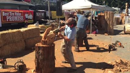 """This week, a group of skilled chainsaw artists will be showing off their craft at the Kitsap County Fair & Stampede. Hailing from all over the country, the artists will be carving pieces throughout the day, as well as holding short """"quick-carve competitions."""" Larger pieces will be auctioned off on Saturday at 5:00 p.m. at the fairgrounds."""