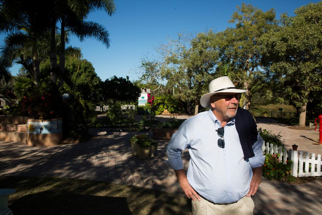 Brian Holley, former Executive Director of the Naples Botanical Gardens, peruses the gardens that he spent over eleven years helping to create and establish into what it is today Tuesday, Jan. 10, 2017.
