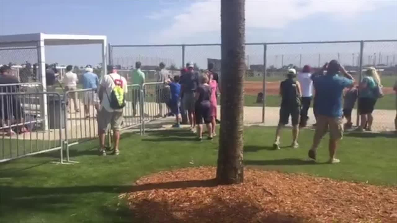 Boston Red Sox player Robbie Ross takes a baseball
