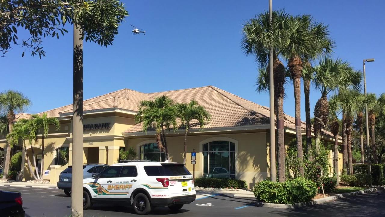 Helicopter flies over Iberia Bank in North Naples after robbery