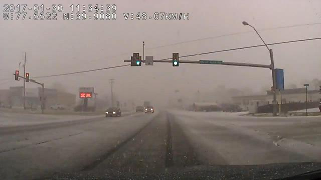 Watch: Morning snowsquall