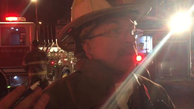 Watch: York fire chief describes fire above vacuum cleaner shop