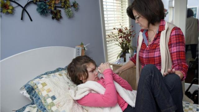 Karen Diller discusses how medical marijuana helped reduce her daughter, Karly's, seizures by about 70 percent during clinical trials at a New York hospital.