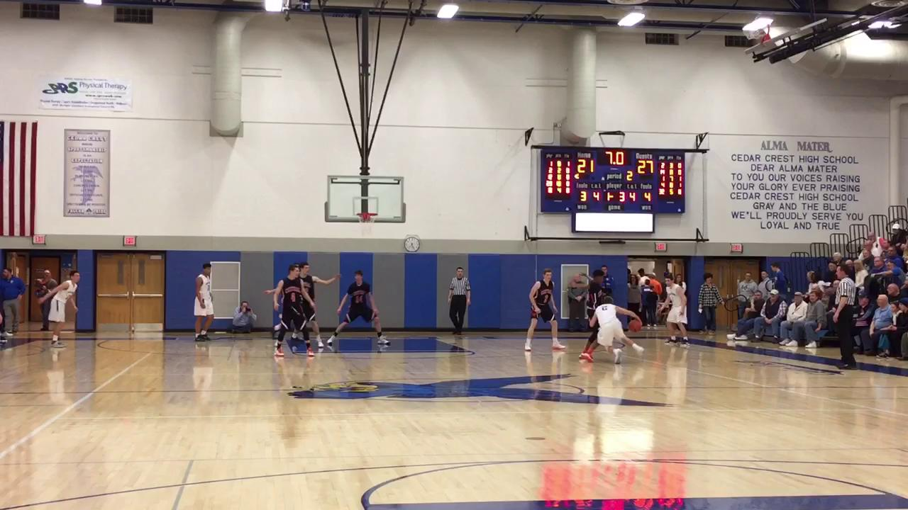 The top five plays from Central York's 64-48 win at Cedar Crest in the District 3 Class 6A First Round Tuesday.