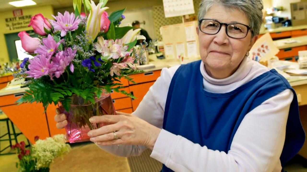 Greg Plasterer, owner of Plasterer's Florist, Chambersburg, expects a heavy volume of flower arrangement orders for Valentine's Day.
