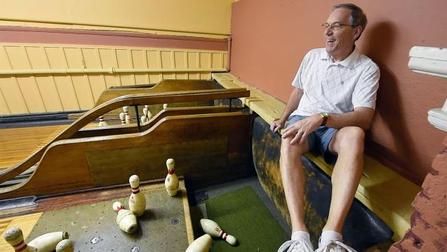 Watch: Antique bowling