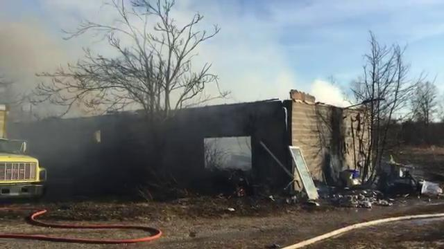According to owner Paul Foltz, a burn pile got out of control and caught his workshop on fire on Monday, Feb. 6.