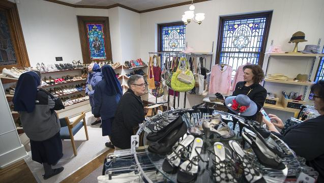 Watch: Light of convent shines on new thrift shop in York