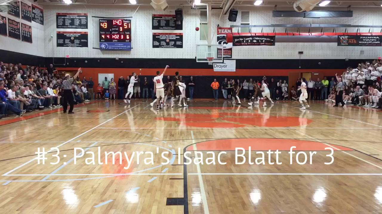 The top 5 plays from the Spartans' 76-71 win over the Cougars in the District 3 Class 5A Quarterfinals Thursday at Palmyra High School.