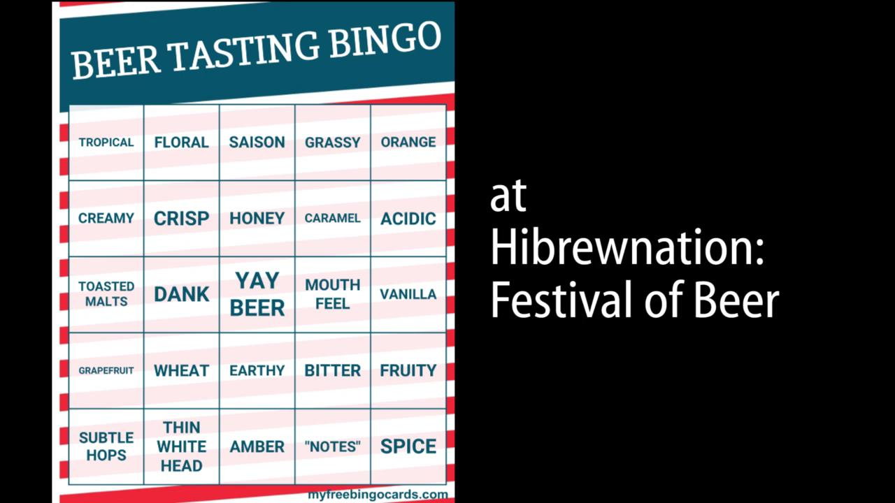 We challenged brewers to get a bingo by describing the beers they poured at Hibrewnation.