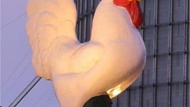 This is the story of how a Hershey Farms building project and community resistance to ditching the giant rooster came to be a fundraising campaign for charity.