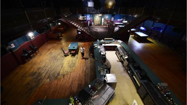 The former nightclub is being auctioned as part of bankruptcy proceedings.
