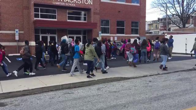 Watch: Thackston Charter students walk out, ask where principal is