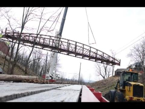 Watch: CVRT pedestrian bridge