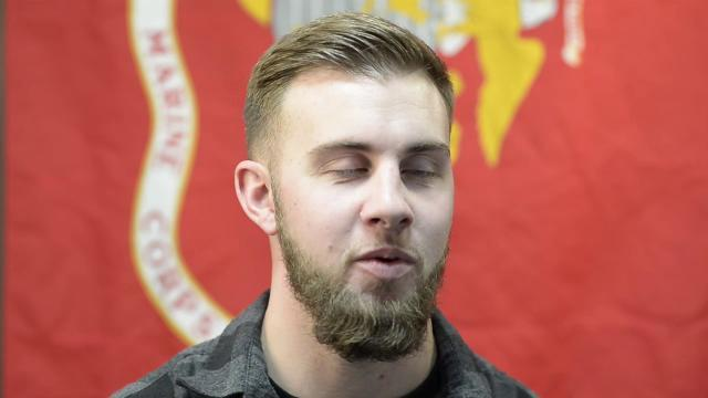 Watch: United States Marine Tanner Leed talks about meeting President Obama