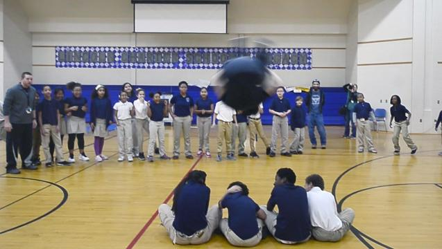 Watch: Learning parkour at Lincoln Charter School