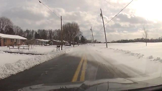 Watch: Dashcam  Snow Drift