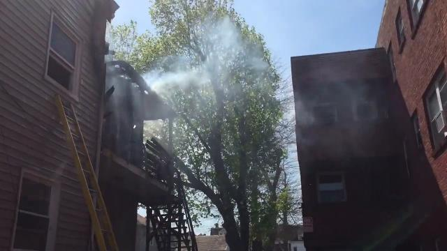 Watch: Firefighters battle blaze at York home