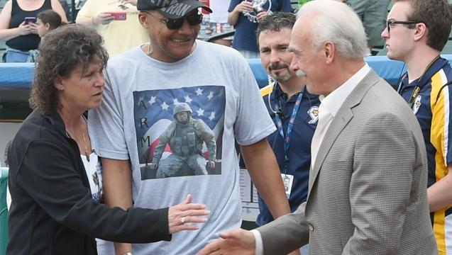 Steelers legend Bleier, a Vietnam vet, visits York Revolution