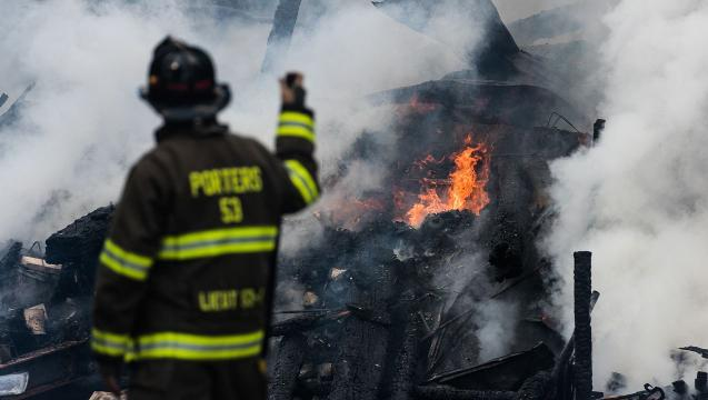 Watch: Scenes from barn fire in Berwick Twp.