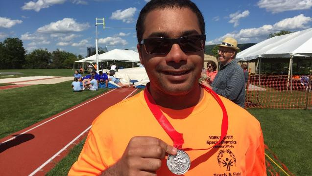 Wrightsville Special Olympian keeps his eye on the prize