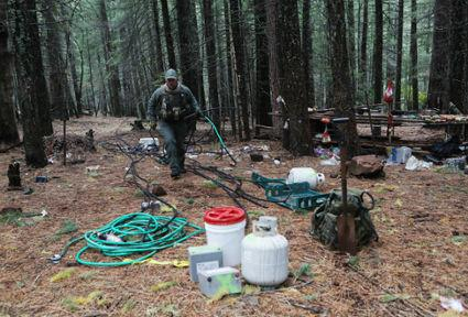Groups clean up trash, poisons left behind at illegal grows on public land