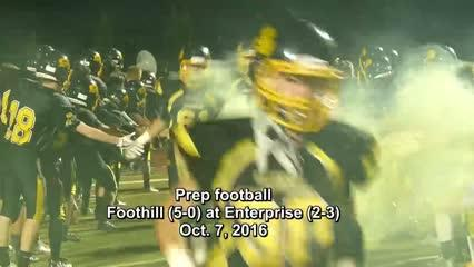 Enterprise High's football team handed Foothill its first loss of the year with a 42-35 home victory on Oct. 7, 2016.