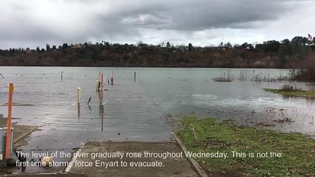 Flows into the Sacramento River are expected to increase to 36,000 cfs by 3 a.m. Thursday.