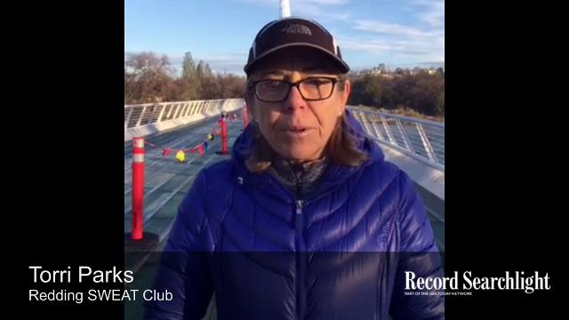 As temperatures dipped below 30 degrees, runners ran the Redding Marathon. The Sundial Bridge hosted the finish line.