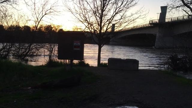 Park Marina Drive flooded in Redding