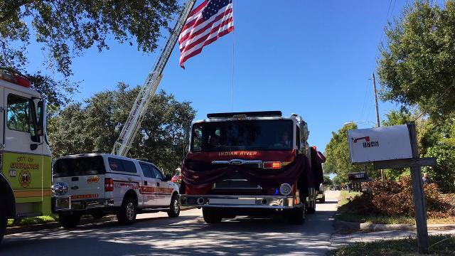Final procession for David Dangerfield