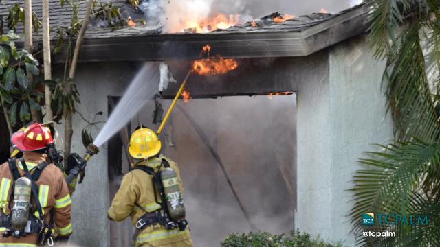 Indian River County Fire Rescue battles house fire at 600 block 24th Place Southwest.