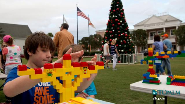 The Chabad Jewish Center of Martin and St. Lucie County holds its annual community Hanukkah celebration and public menorah lighting, its 19th on the Treasure Coast, Tuesday, Dec. 27, 2016, at Tradition Square in Port St. Lucie.