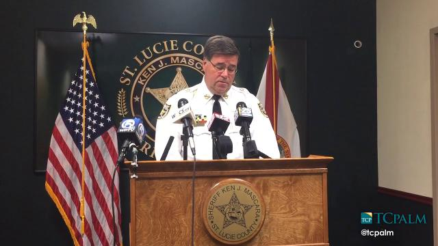 Sheriff Ken Mascara discusses arrest in Sheila Hamner homicide during a Tuesday press conference at the SLCSO.