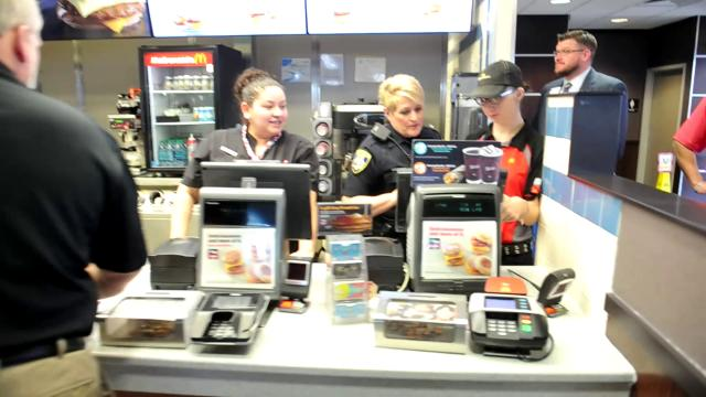 Wichita Falls police officers met with McDonald's customers for Coffee with a Cop