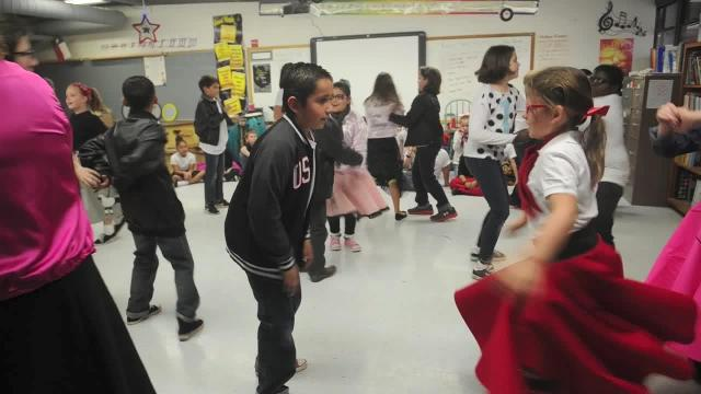 Video: 1950s dancing at Austin Elementary