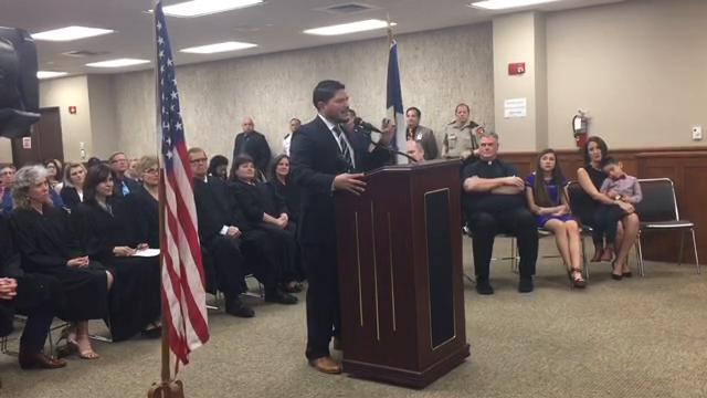 Nueces County District Attorney Mark Gonzalez had a formal swearing in ceremony at the Nueces County Courthouse.