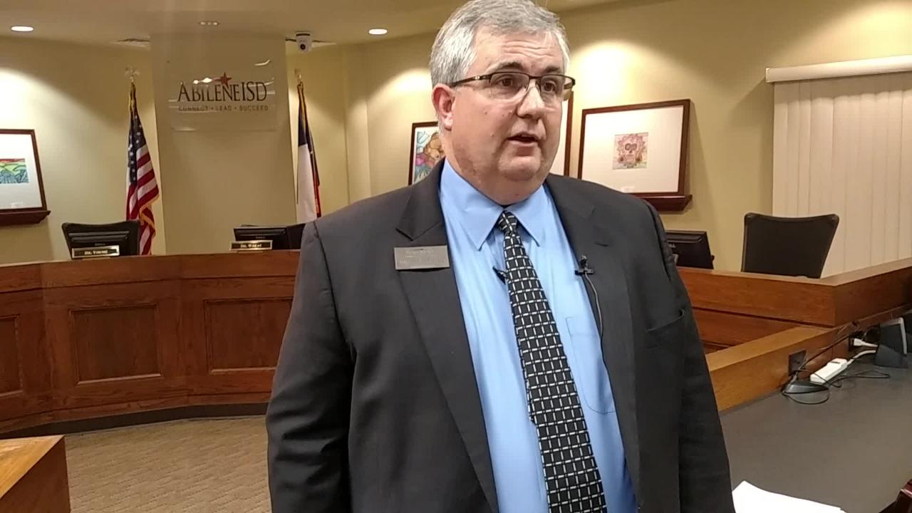 Abilene ISD Superintendent David Young discusses the new calendar for the 2017-18 school year adopted by the district's school board Monday evening