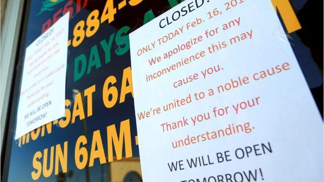 Local businesses close for \u0022Day Without Immigrants\u0022