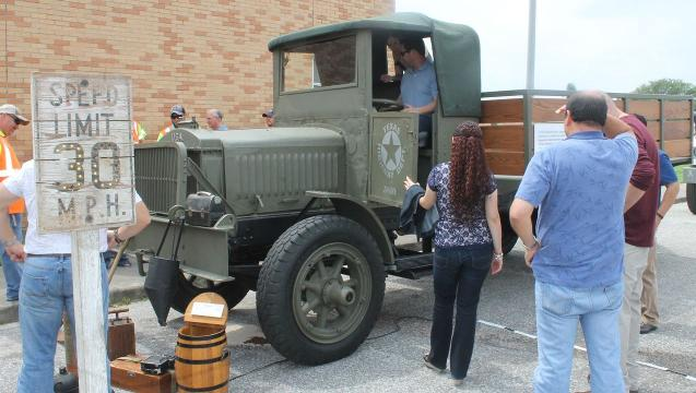 Century-old truck in Corpus Christi for TxDOT centennial milestone