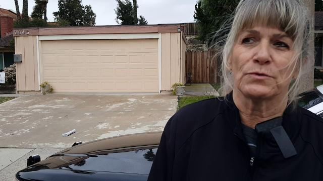 Sgt. Barbara Payton, of the Ventura County Sheriff's Office, explains how a truck crashed into the back of a house in the 2000 block of Briarwood Place early Thursday morning.
