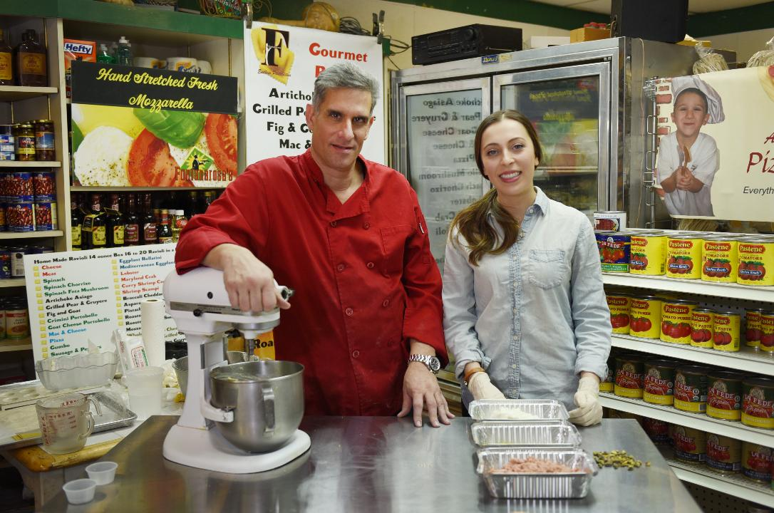 Sophia Gottfried demonstrates how to make Ravioli instructed by Anthony Fontanarosa, one of two owners of Fontanarosa's Gourmet Specialty Foods in Totowa.